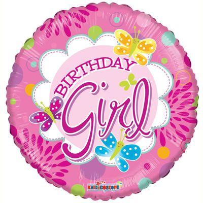 Butterfly Birthday Girl Foil Balloon