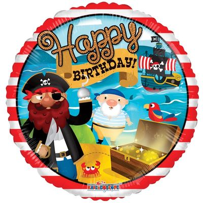 Treasure Pirate Birthday Balloon
