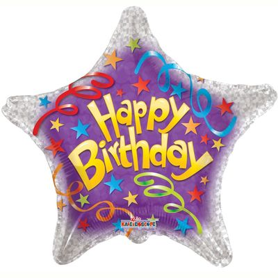 Star Birthday Streamers Foil Balloon