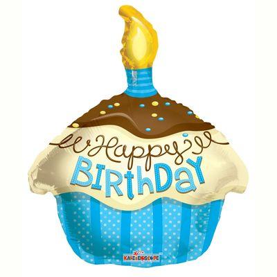 Blue Cupcake Foil Balloon