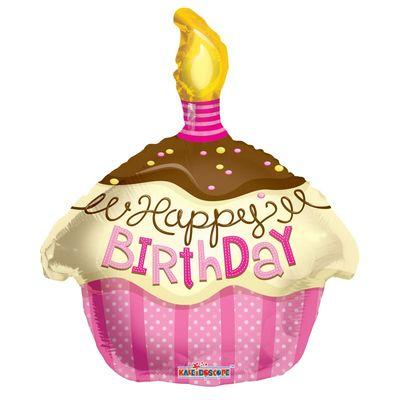 Pink Cupcake Foil Balloon