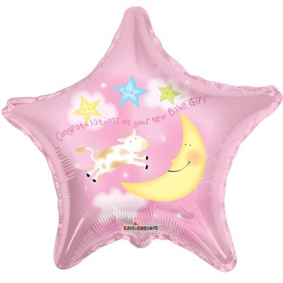 New Baby Girl Pink Star Balloon