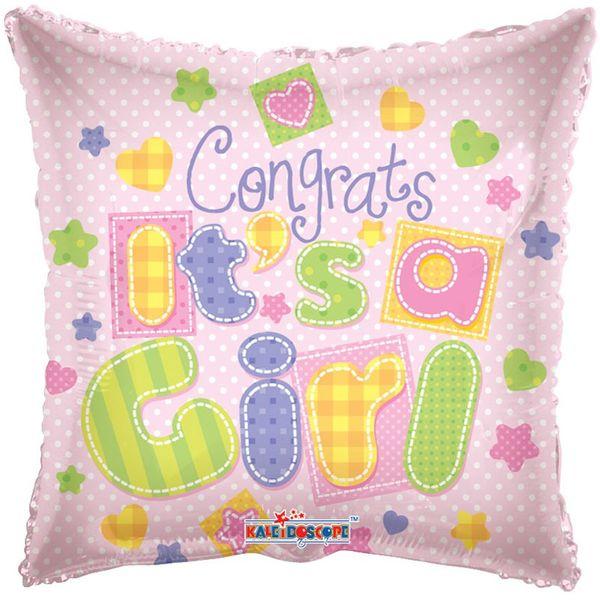 Congrats Its A Girl Foil Balloon