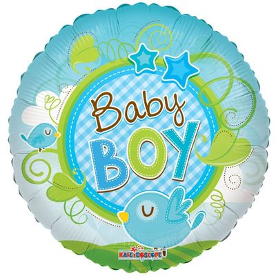 Baby Boy Bird Clear View Balloon