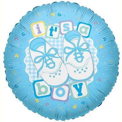 Its A Boy Shoes Foil Balloon