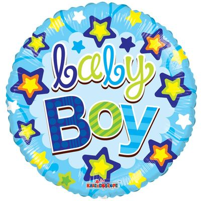 Baby Boy Stars Foil Balloon