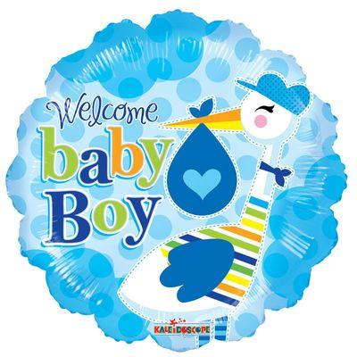Baby Boy Stork Foil Balloon