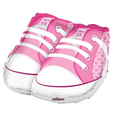 Baby Shoes Pink Foil Balloon