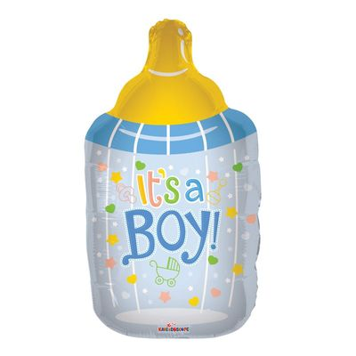 Its A Boy Bottle Foil Balloon