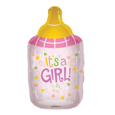 Baby Girl Bottle Foil Balloon