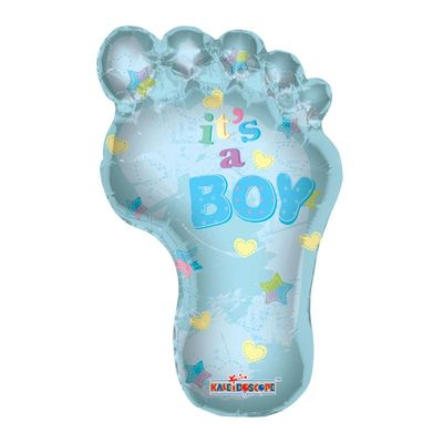 Baby Boy Footprint Foil Balloon