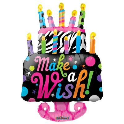 Make A Wish Supershape Cake Balloon