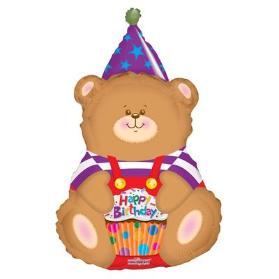 Birthday Bear Supershape Foil Balloon