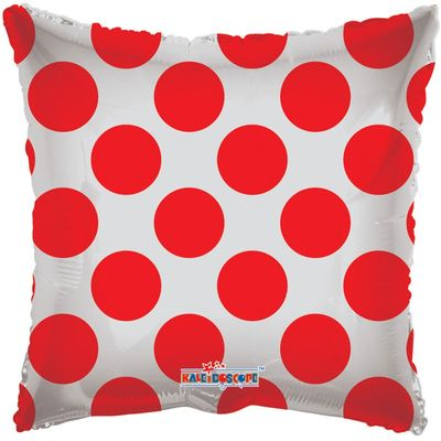 Red Polka Dot Clear View Balloon
