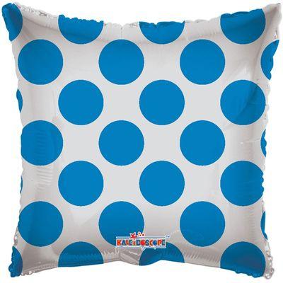 Blue Polka Dot Clear View Balloon