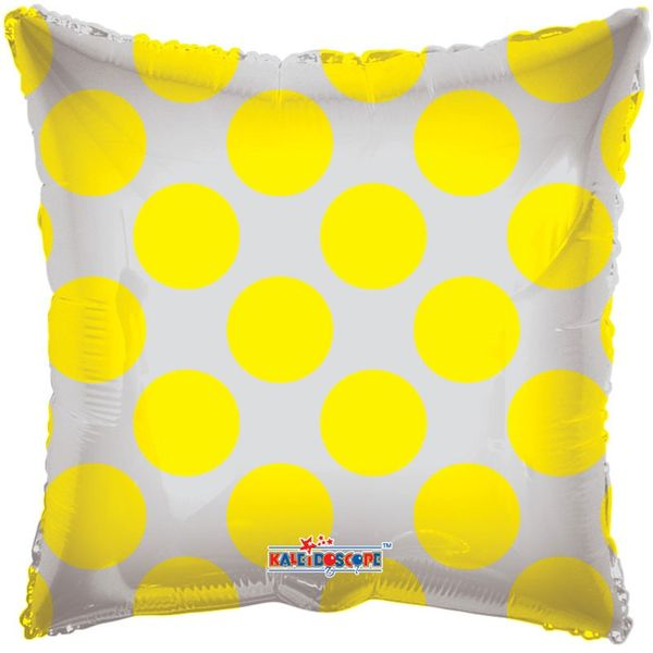 Yellow Polka Dot Clear View Balloon