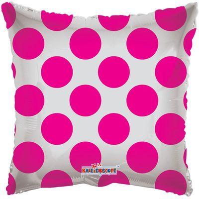 Hot Pink Polka Dot Clear View Balloon