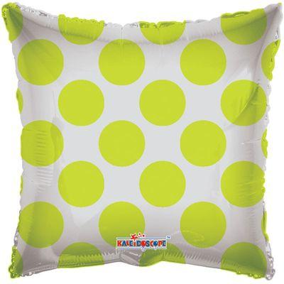 Lime Green Polka Dots Clear View Balloon