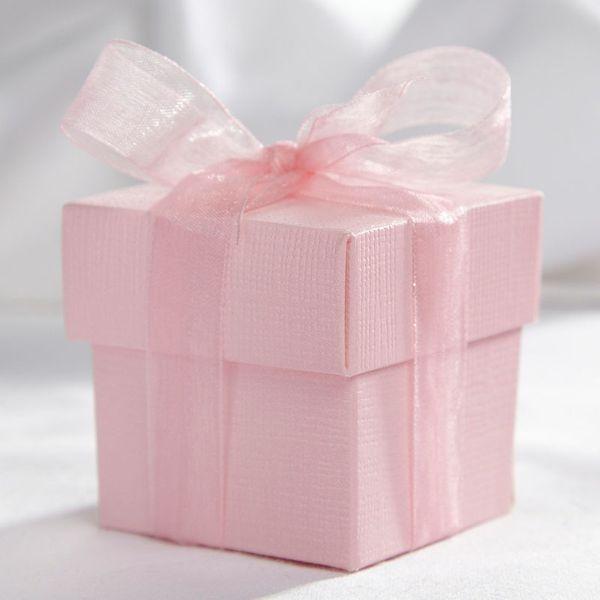 Pink Square Favour Box & Lid