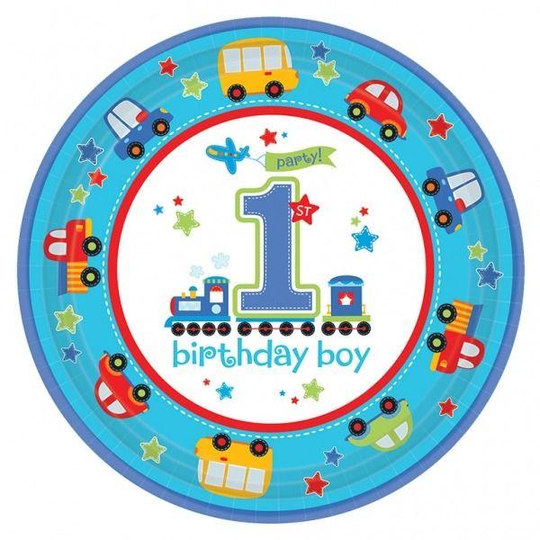 All Aboard Birthday Boy Plates