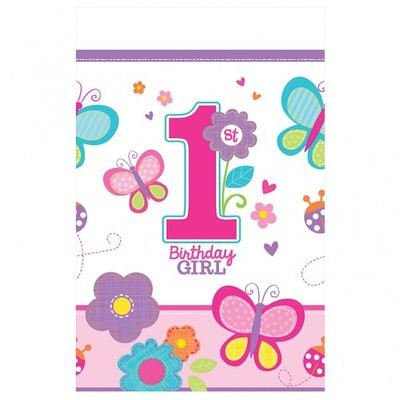 Sweet Birthday Girl Plastic Tablecover