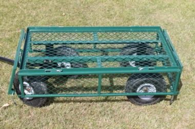 Large Green 4 Wheeled Garden Trolley