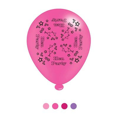 Hen Party Latex Balloons x8