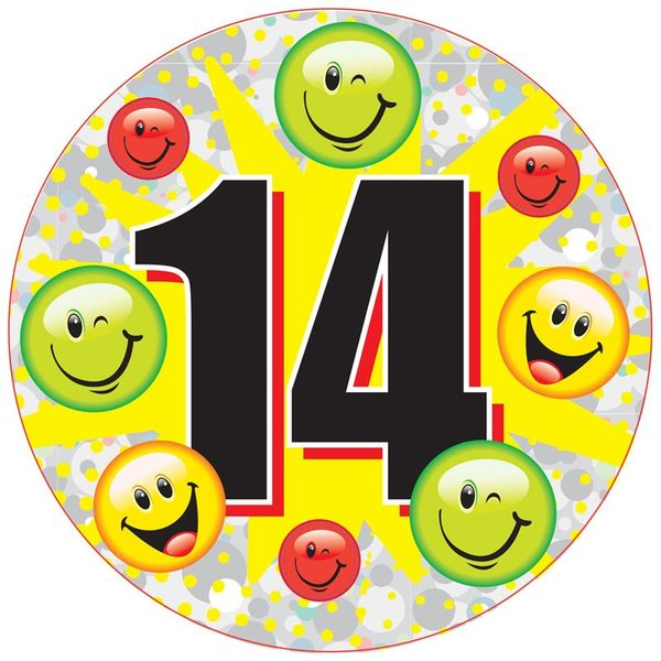 Age 14 Unisex Party Badge