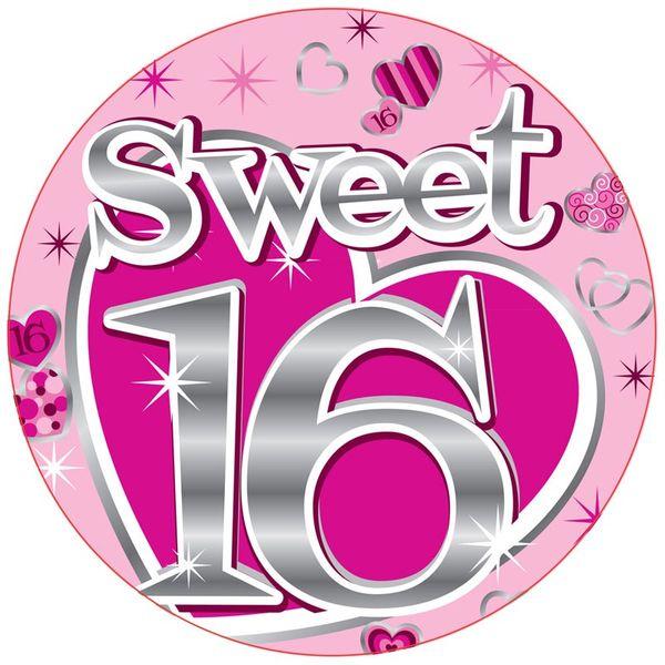 Jumbo Sweet 16 Badge