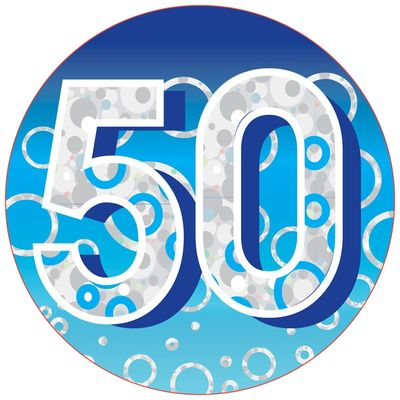 50 Birthday Badge