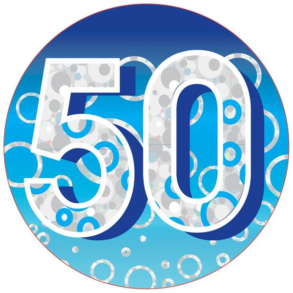 50 Birthday Badge