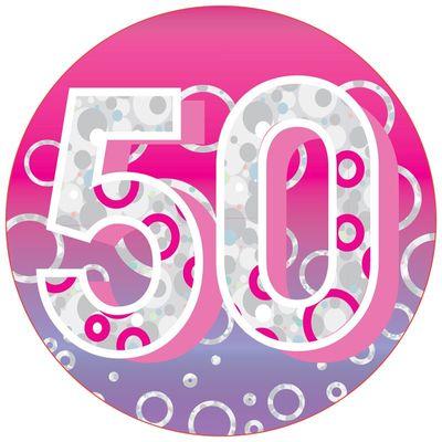 Age 50 Female Jumbo Badge