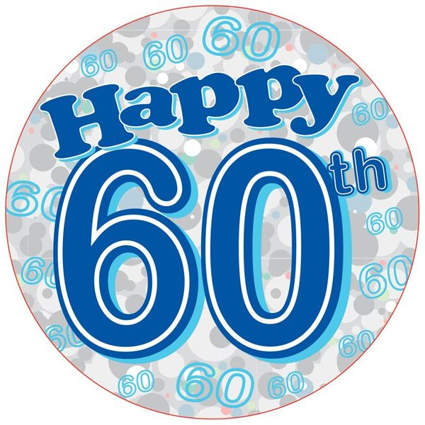 60th Birthday Badge