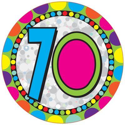 70th Jumbo Badge
