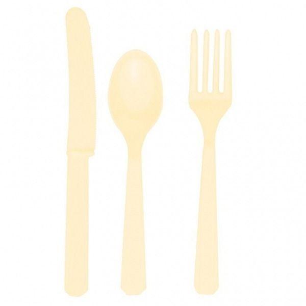 Ivory Plastic Cutlery