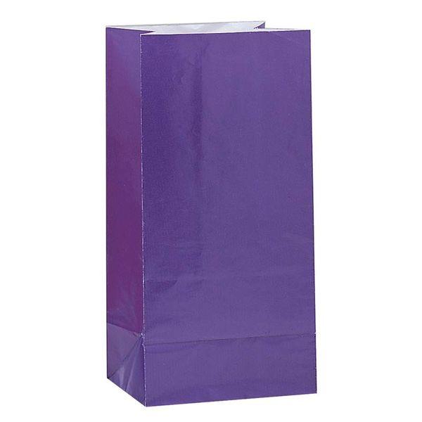 Purple Party Paper Bags