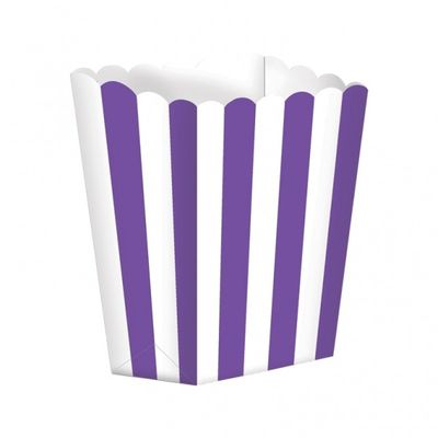 Purple Popcorn Boxes