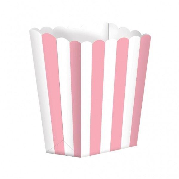 Pastel Pink Popcorn Boxes