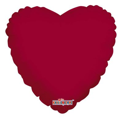 Burgundy Heart Balloon