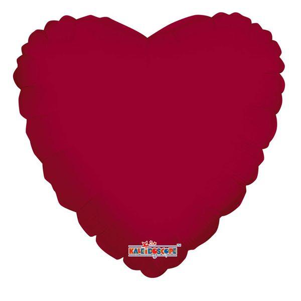 Burgundy Heart Balloon