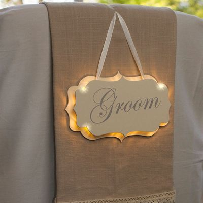 Illuminated Groom Sign