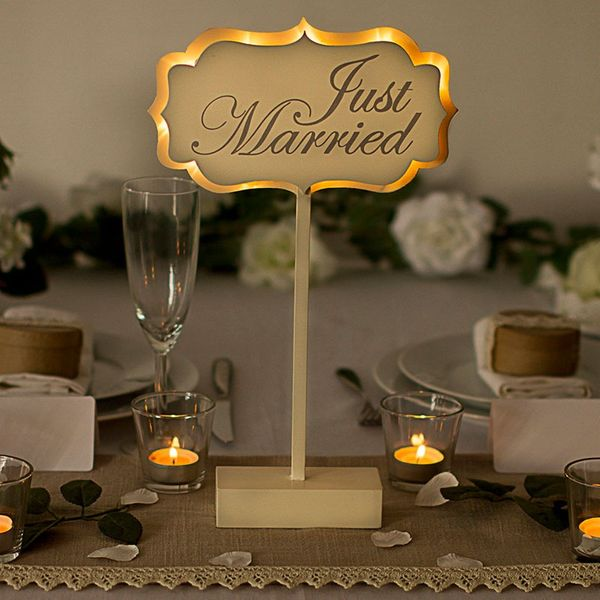 Illuminated Just Married Sign