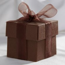 Chocolate Brown Favour Box