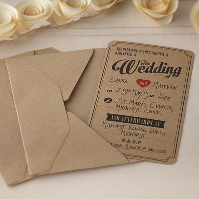Vintage Affair Kraft Invites