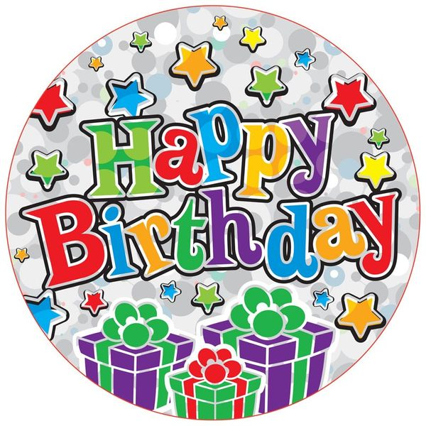 Jumbo Happy Birthday Party Badge