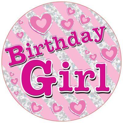 Jumbo Birthday Girl Badge