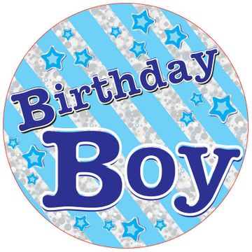 Jumbo Birthday Boy Badge