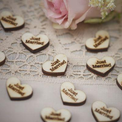 Wooden Hearts Confetti