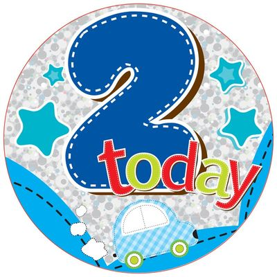 Jumbo Age 2 Transport Birthday Badge
