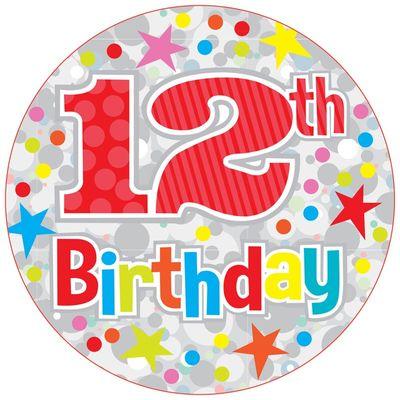 Jumbo 12th Birthday Badge